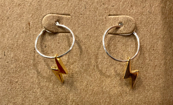 beauty + grace Lightning Bolt Hoops