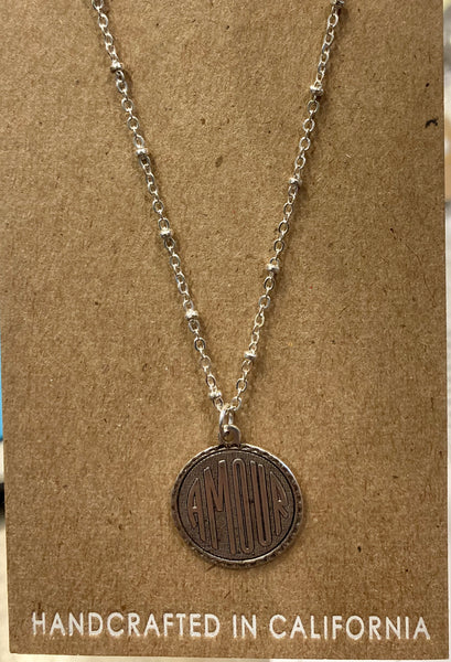 beauty + grace Amour Medallion Necklace