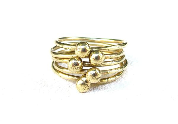 JACQUELINE ROSE Orb Stacking Rings Set of 5