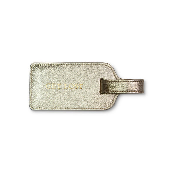"KEMPTON & CO Luggage Tag ""Get Lost"" Silver"
