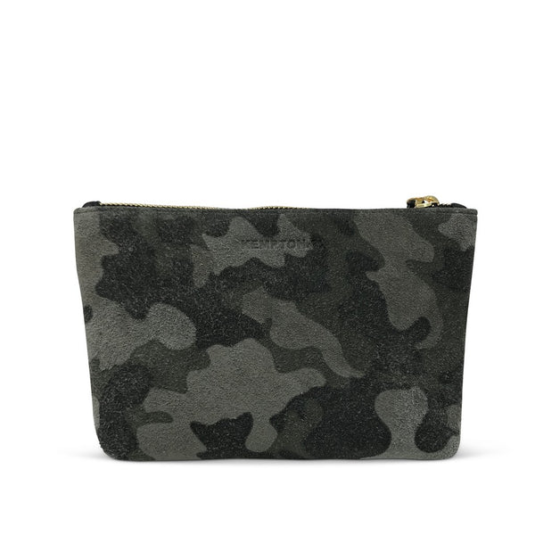 KEMPTON & CO Marlborough Cosmetic Pouch in Grey Camo
