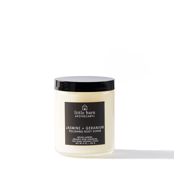 LITTLE BARN APOTHECARY Polishing Body Scrub in Jasmine + Geranium