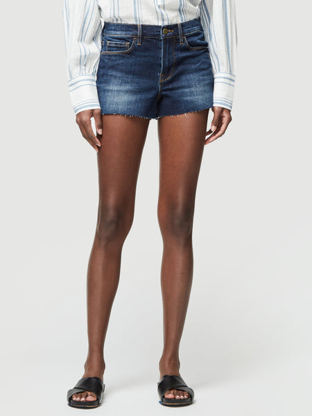FRAME Le Cut Off Raw Edge Shorts in Astor