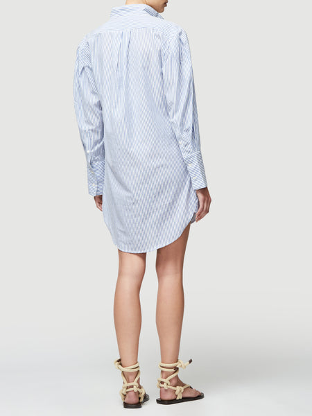 FRAME Pleated Clean Collar Dress