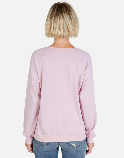LAUREN MOSHI Vintage Pullover with Pearl Star in Pink