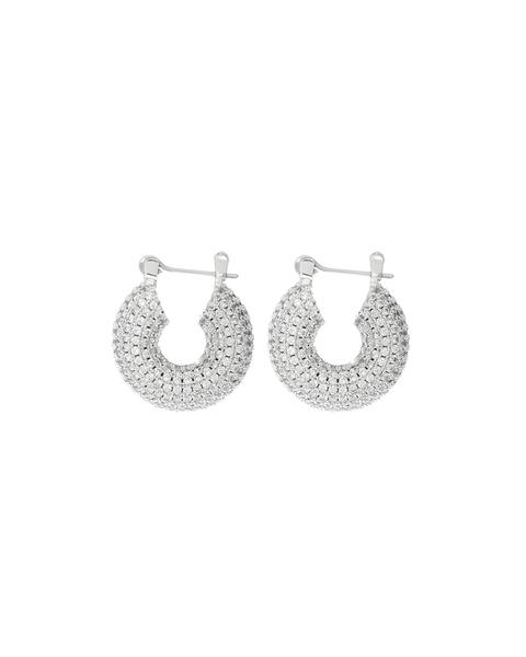 beauty + grace Pave Mini Donut Hoops