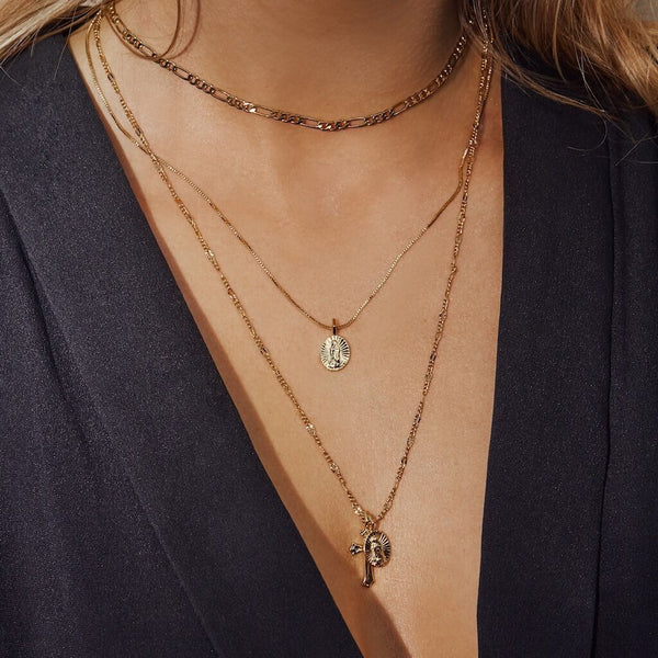beauty + grace Isidore Cross Charm Necklace