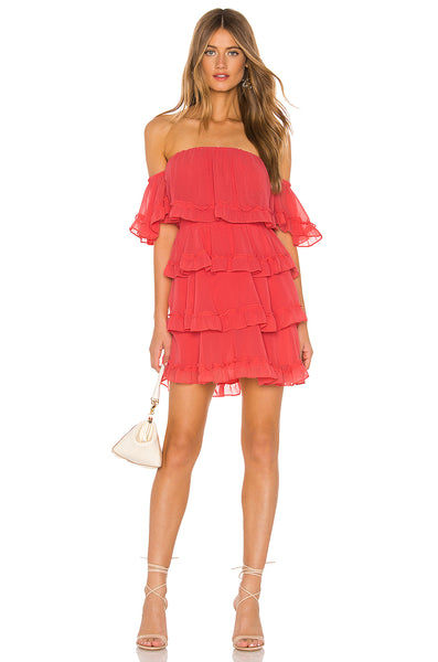 MISA Famke Dress in Coral
