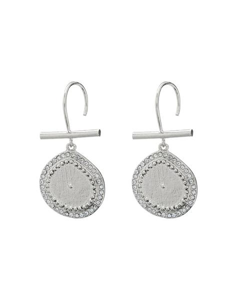 beauty + grace Pave Coin Hook Earrings