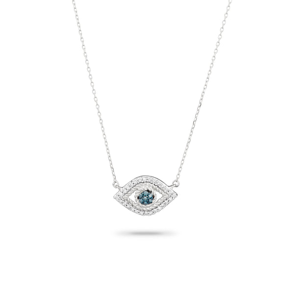 ADINA REYTER Tiny Pavé Evil Eye Necklace