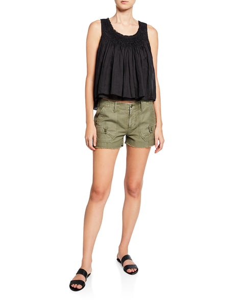 FRAME Service Cut Off Shorts in Military