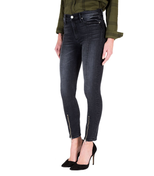 BLACK ORCHID Nola Front Zip Skinny in Bang Bang