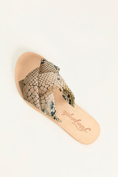 FREE PEOPLE Rio Vista Slide Sandal in Beige