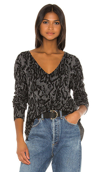 PAM & GELA Ocelot V-Neck Sweater