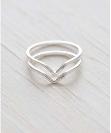 beauty + grace Silver V Ring