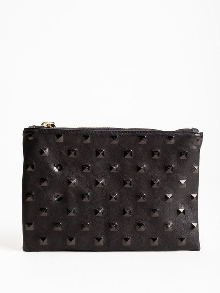 KEMPTON & CO Studded Black Small Pouch