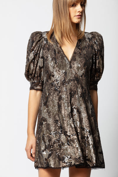ZADIG & VOLTAIRE Royals Camou Sequin Dress