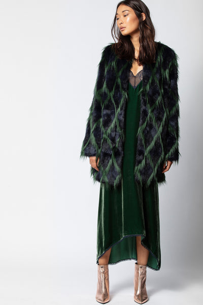 ZADIG & VOLTAIRE Louisy Faux Fur Coat