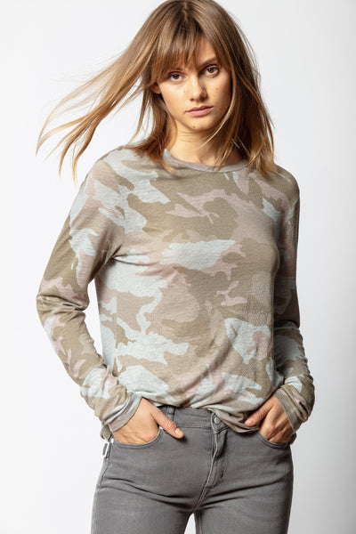 ZADIG & VOLTAIRE Willy Lin Camo Top