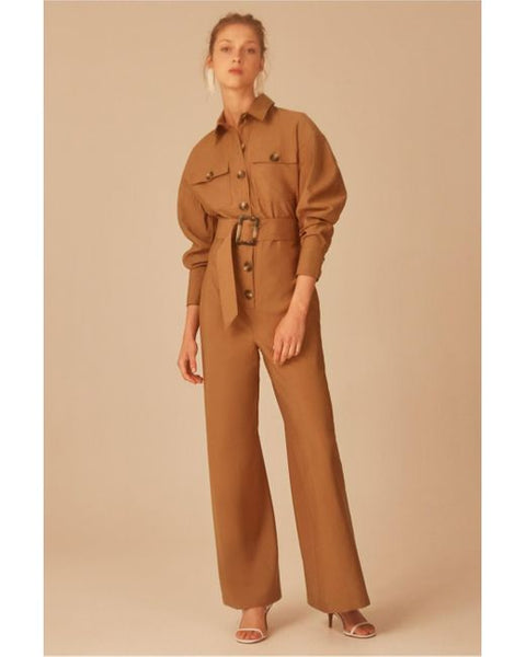 C/MEO No Lies Jumpsuit in Tan