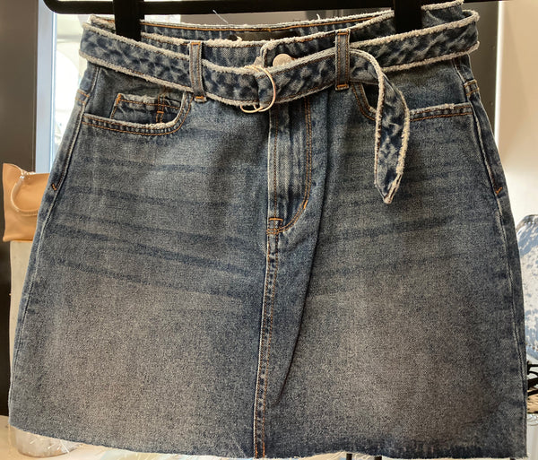 beauty + grace Vintage Denim Mini Skirt