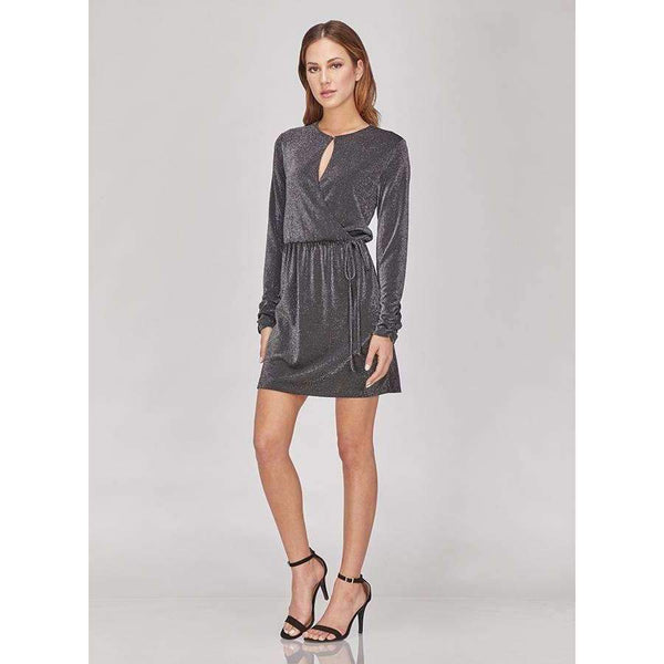 GREYLIN Leona Lurex Long-Sleeved Dress