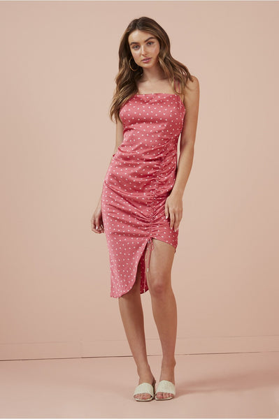 FINDERS KEEPERS Emilia Dress in Pink Butterfly
