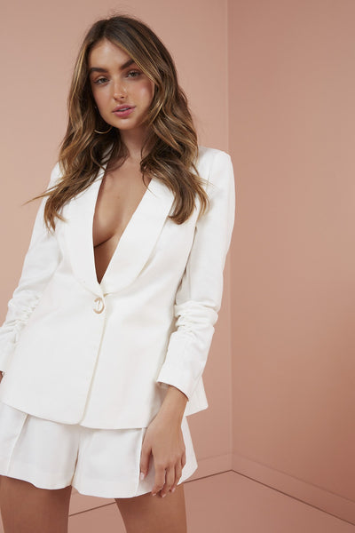 FINDERS KEEPERS Rae Blazer in Ivory