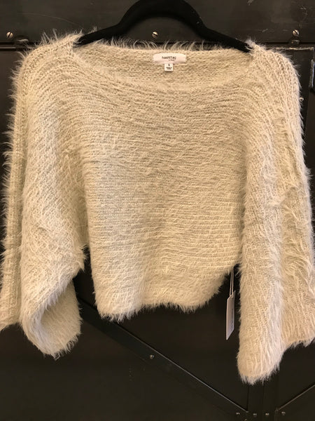 Bg HT Faux Fur Shimmer Sweater