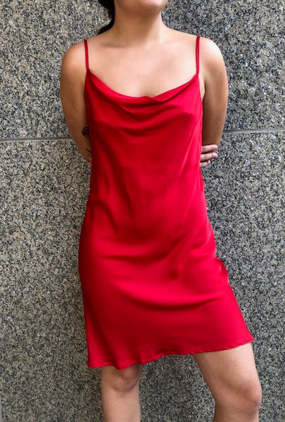beauty + grace Midi Satin Slip Dress