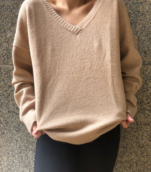 beauty + grace V-Neck Sweater