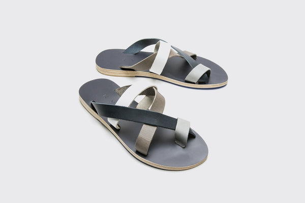 KYMA Symi Sandals in Grey/White/Navy