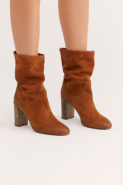 FREE PEOPLE Dakota Heel Suede Boot