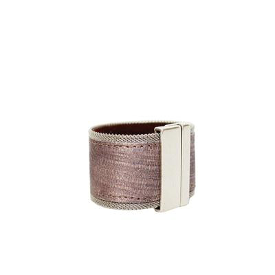 STREETS AHEAD Rose Leather Bracelet