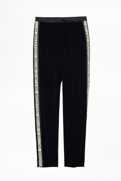ZADIG & VOLTAIRE Paula Band Pants in Noir