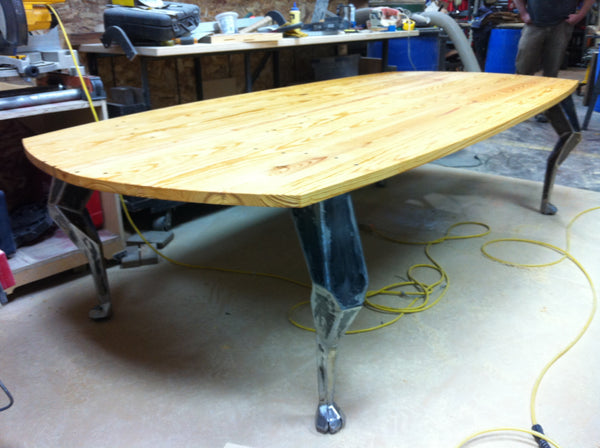 Custom Reclaimed Wood And Steel Conference Tables