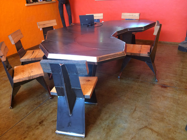 Custom Steel Conference Table