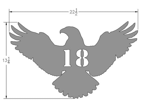 Bird Of Prey Address Plate