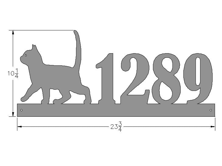 Kitten Address Plate