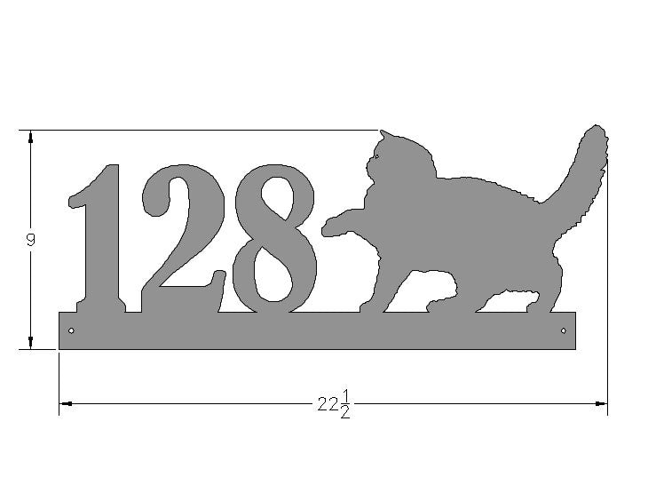 Persian Rampant Address Plate