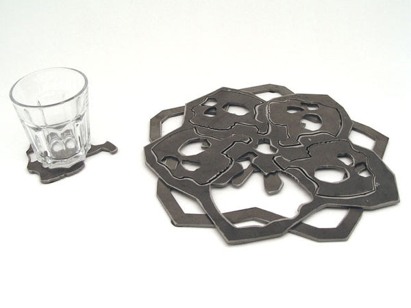 Skullflower Trivet and Coasters