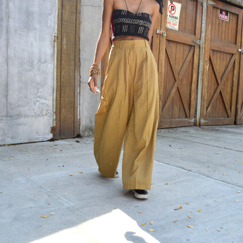 Throwback Wide Leg Slacks