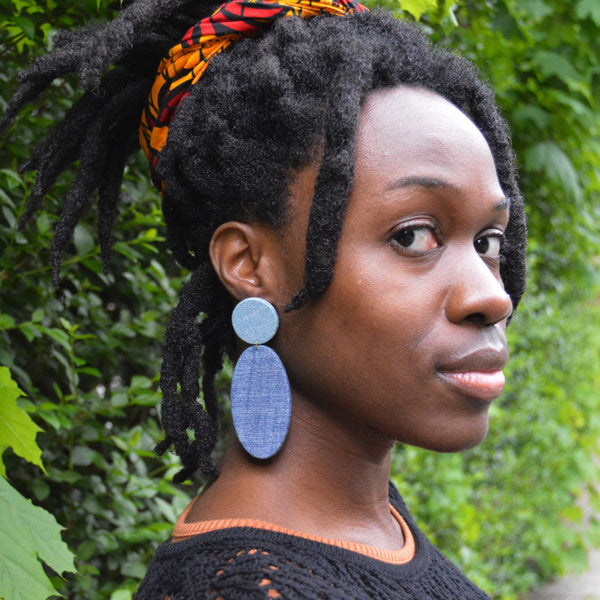 Denim PoP post Earrings