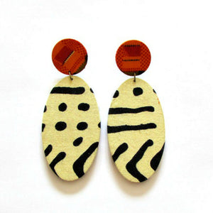 PoP post Earrings (2 Print options)