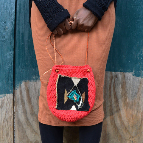 Rootsy Crossbody Crochet Bag