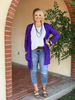 Texas-True-Threads-Purple -Game-Day-Cardigan | All that Sparkles Boutique