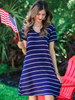 jess-lea-navy-striped-dress | All that Sparkles Boutique