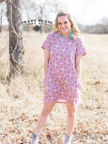 Crazy Train pink pocket dress