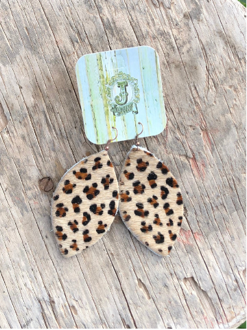 Cheetah-print-leather-earrings | All that Sparkles Boutique