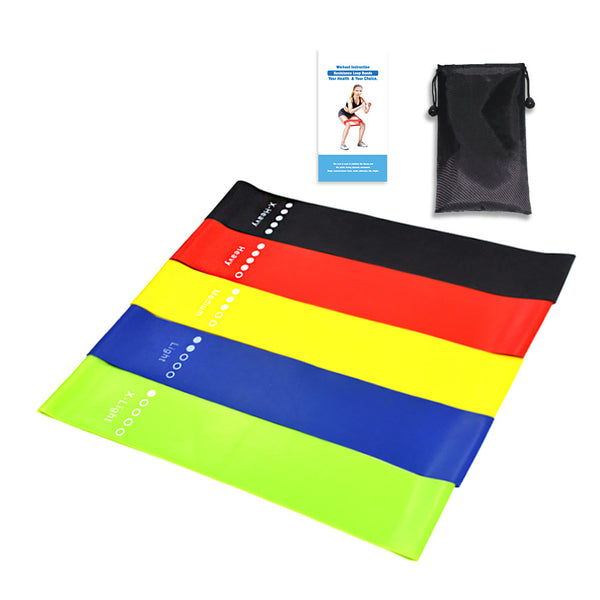Resistance Loop Bands, Resistance Exercise Bands for Home Fitness, Strength Training, Physical Therapy, - icambag